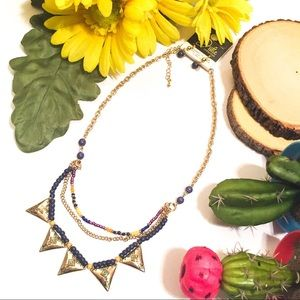 Julie Collection / Blue and Yellow Necklace